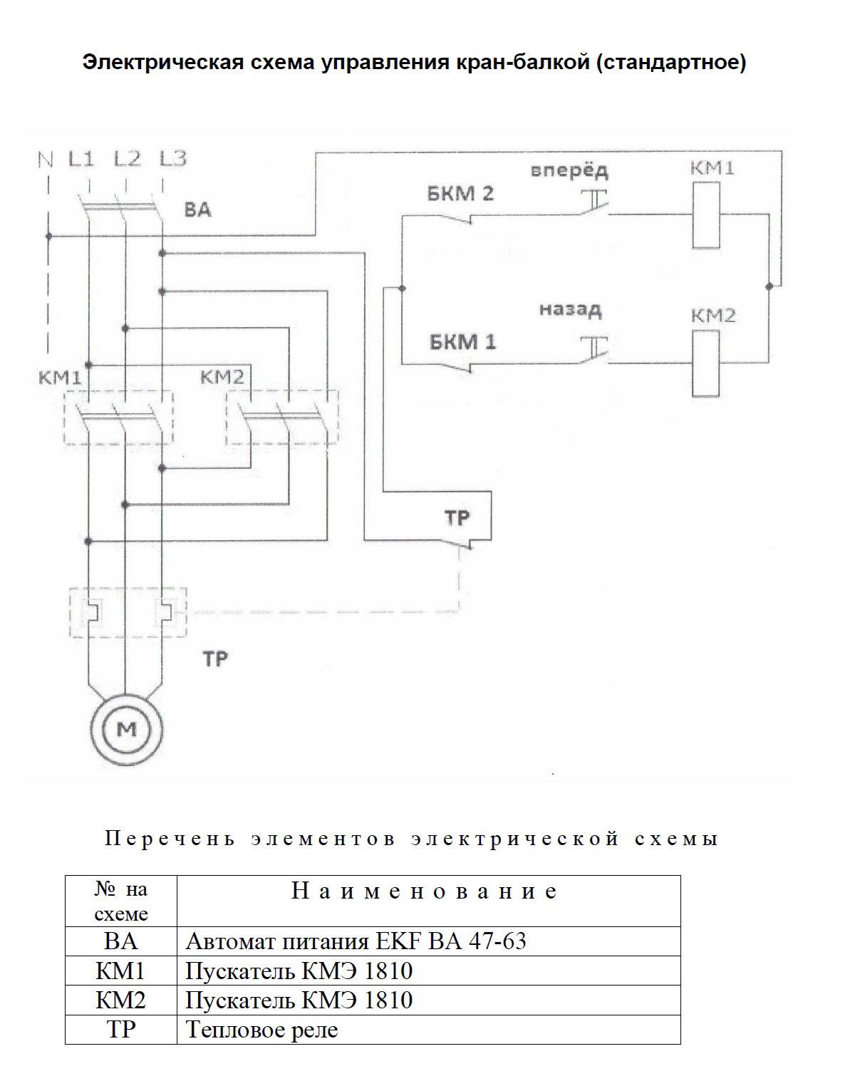 Электрическая схема управления мостовым краном фото 215